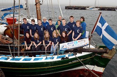 2012 Sail Trainees pictured onboard Swan